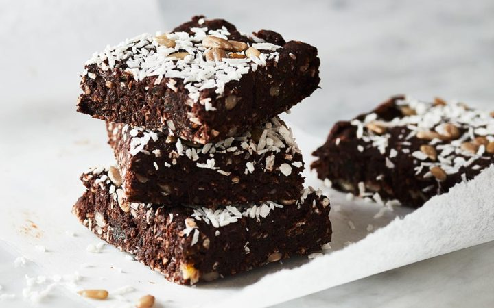 Chocolate coconut date bars
