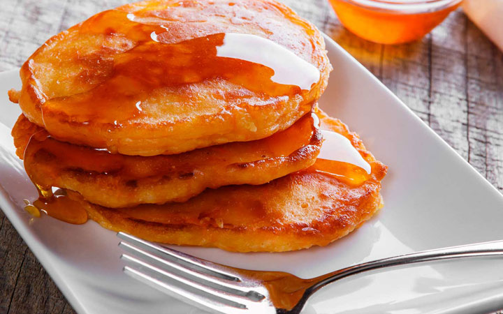 Carrot Cake Paleo Pancakes