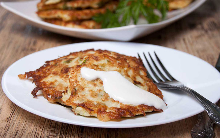 Courgette Feta Fritters