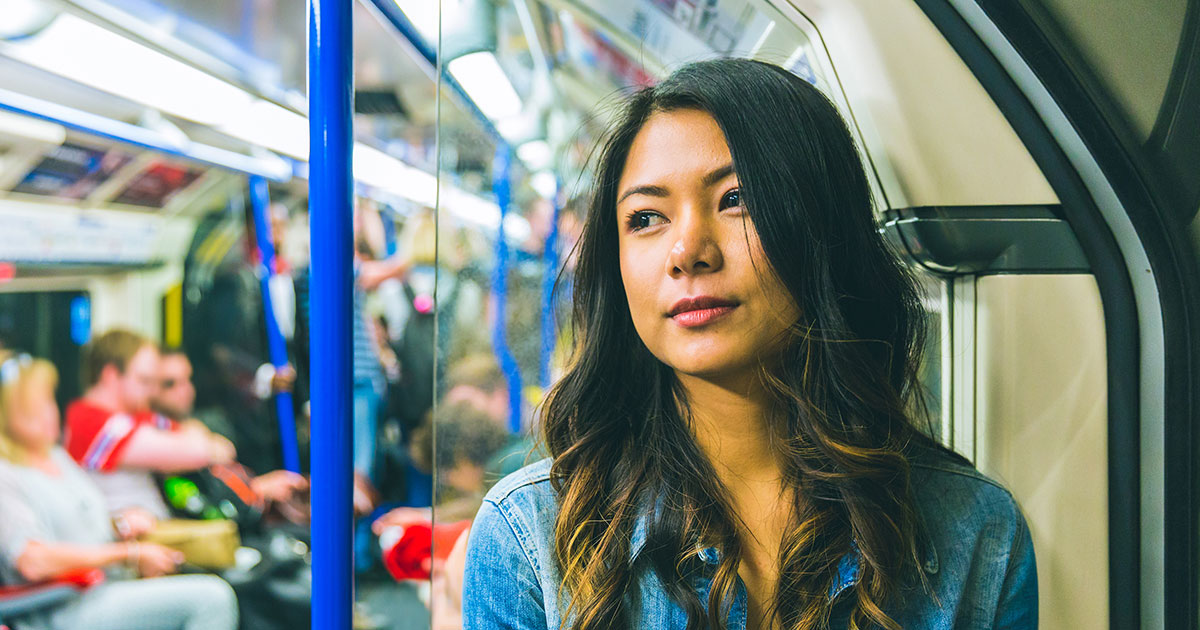 woman on the tube