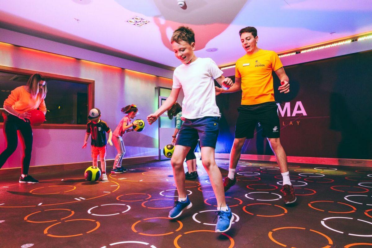 Family doing Prama workout