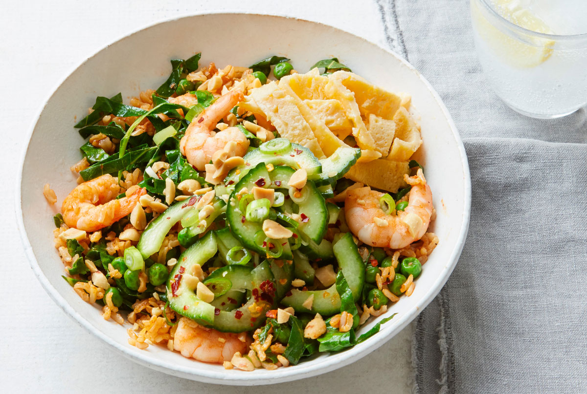 king prawn stirfried rice