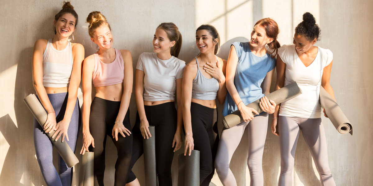 group of fit women