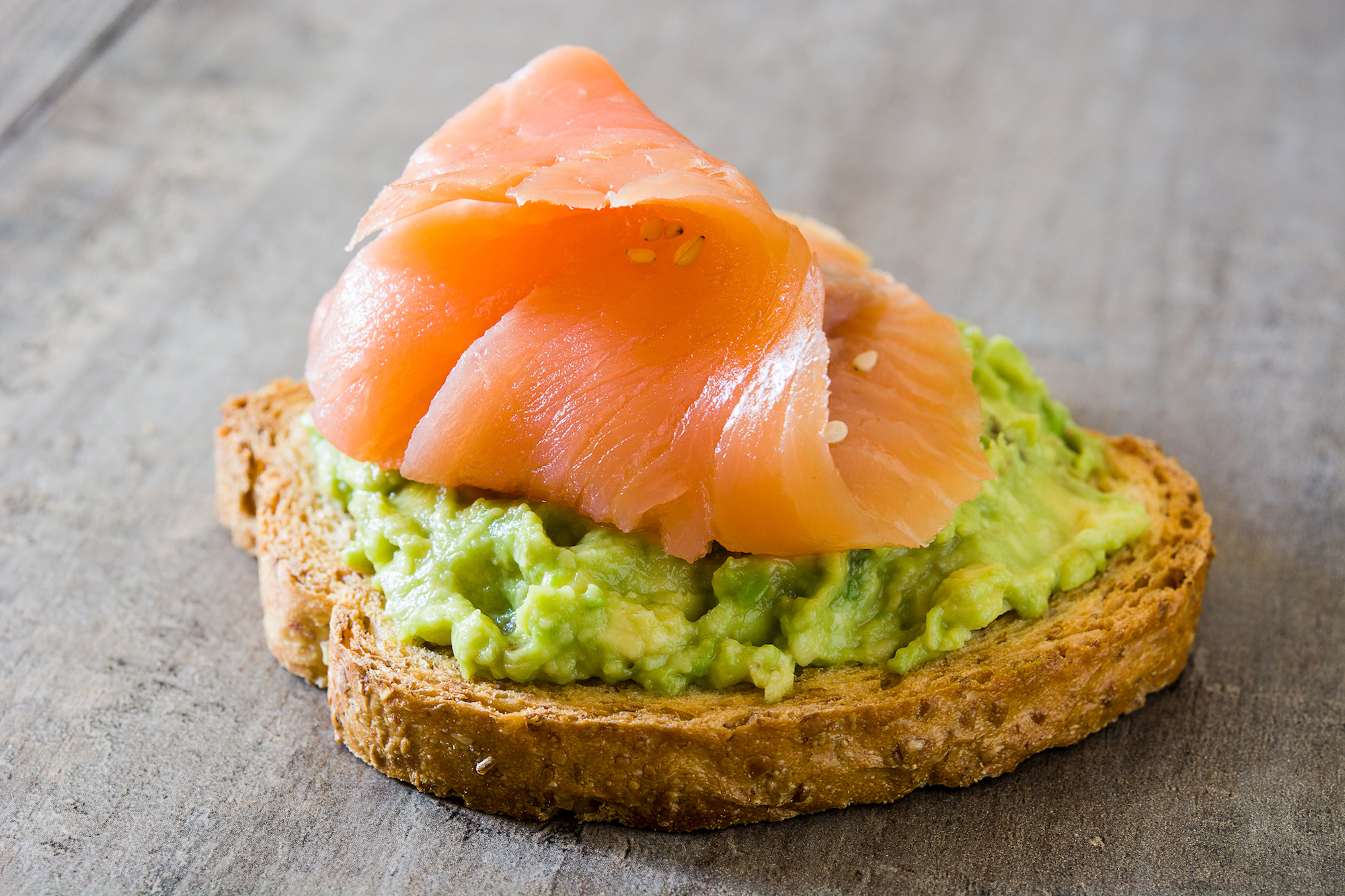 salmon and avocado on toast for a healthy snack