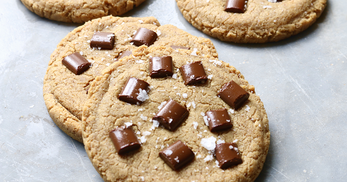 Peanut Butter Choc Chip Cookies