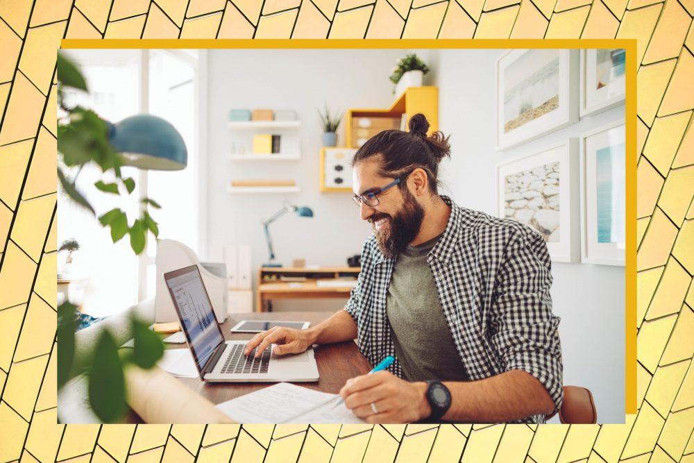 Work Motivation - Man at desk working