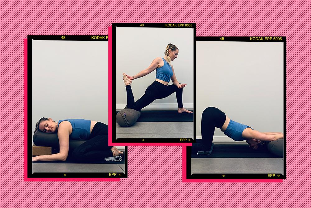 woman practicing yin yoga