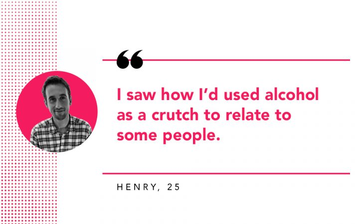 Henry's reason for quitting alcohol