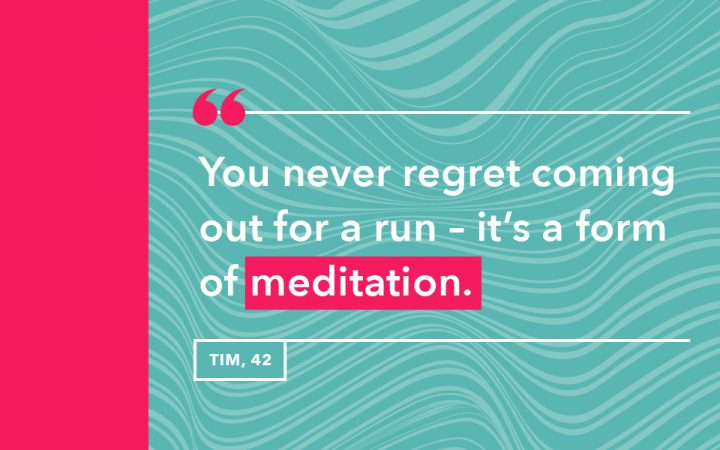 Tim's reason for why he goes running