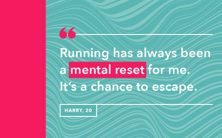 Harry's reason for why he goes running