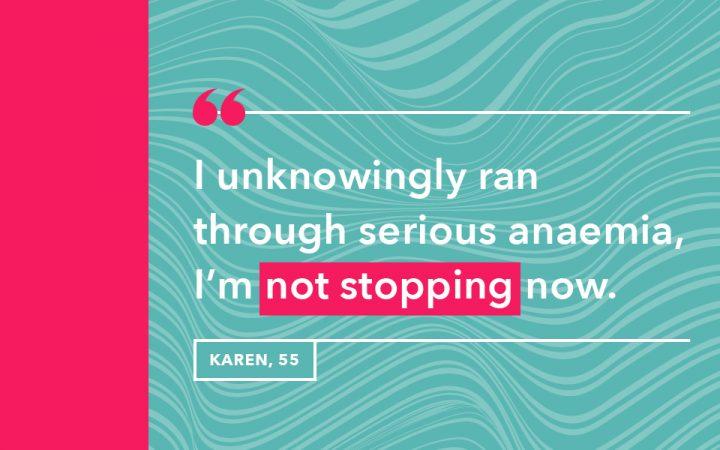 Karen's reason for why she goes running