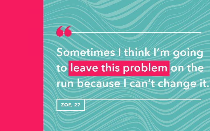 Zoe's reason for why she goes running