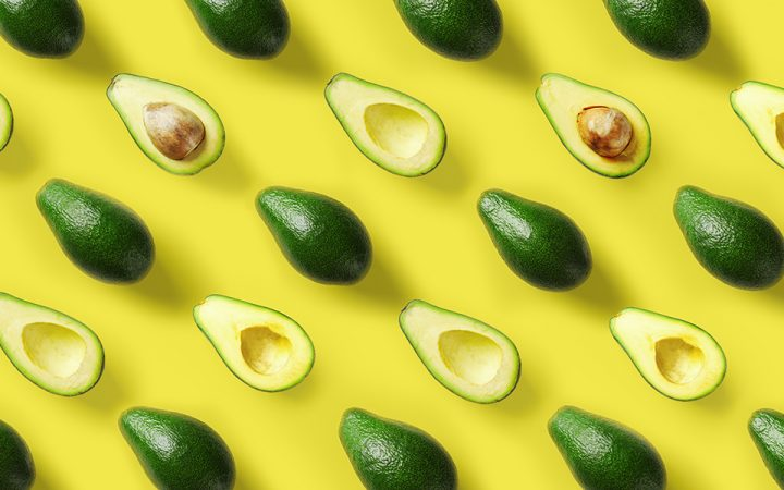 collage of avocado