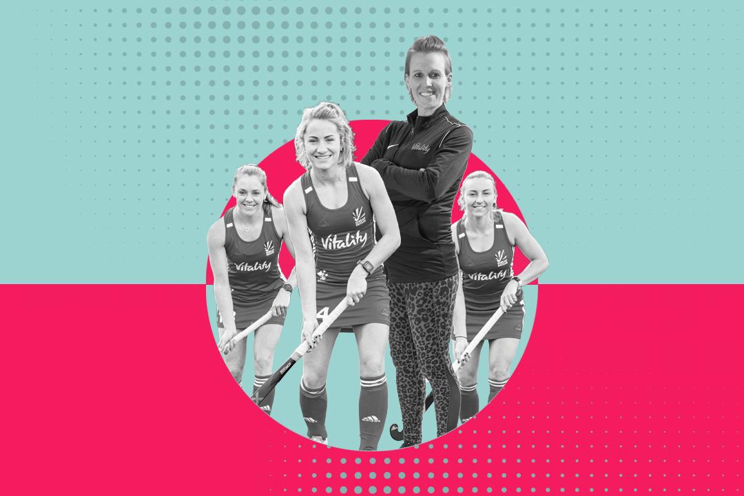 GB Women's Hockey Players and Alex Danson-Bennett