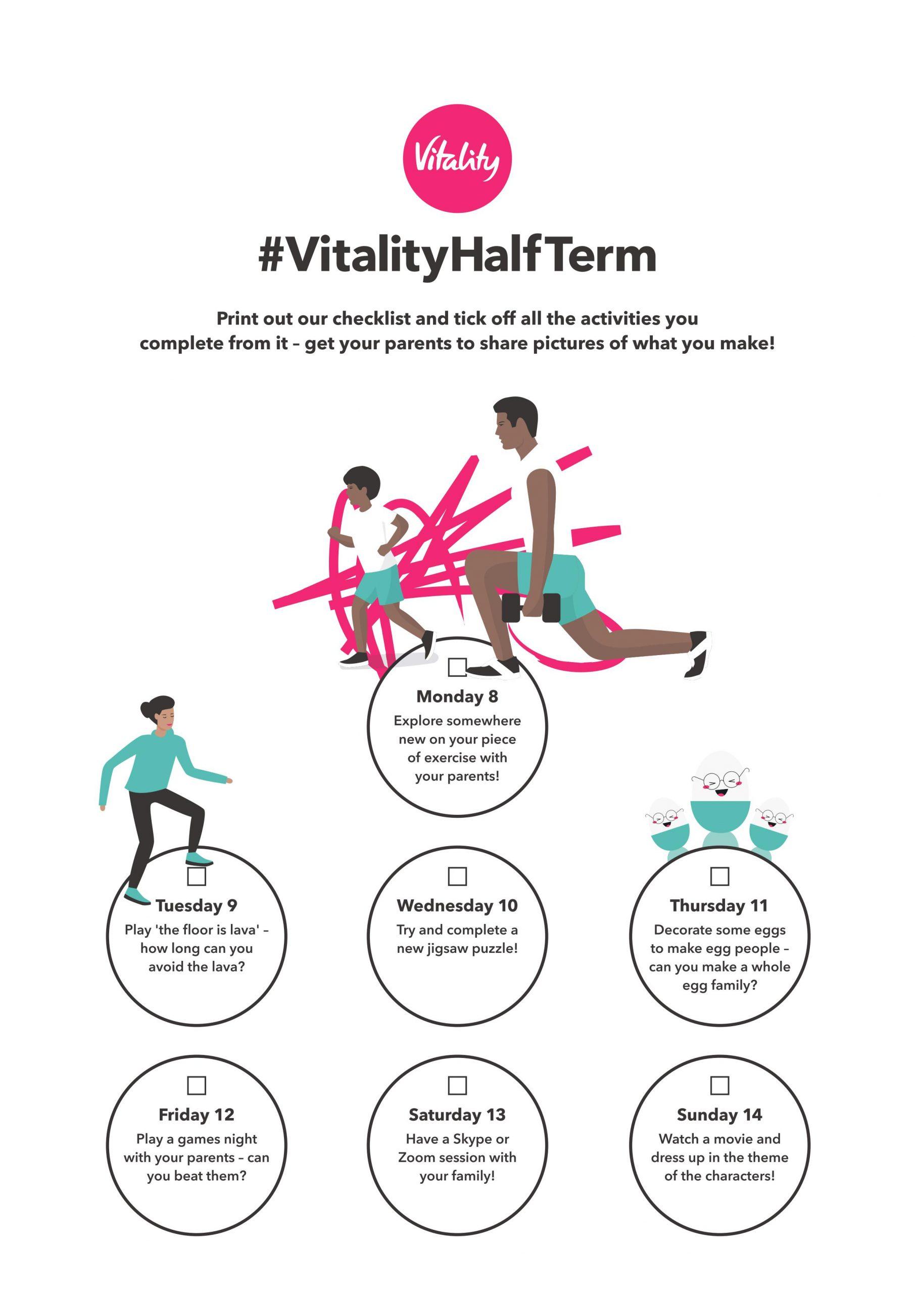 Vitality Kid's checklist week 1