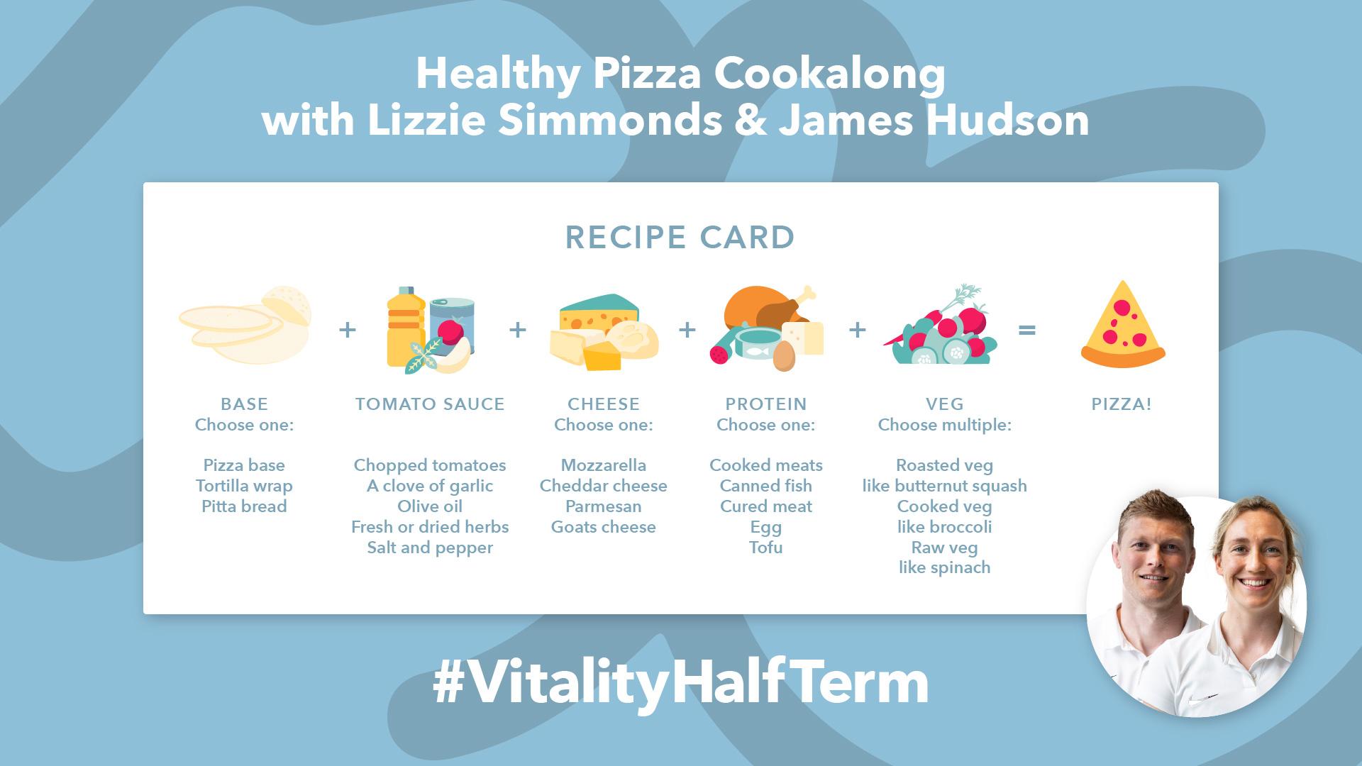 Half term pizza cookalong ingredients