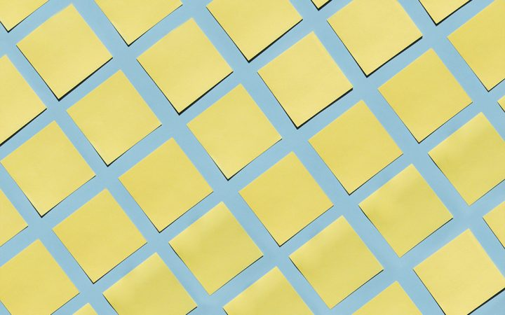 Yellow post it notes to be used in your career