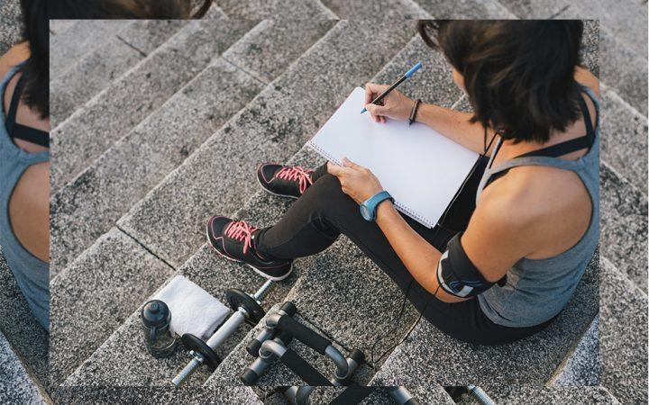 women journaling