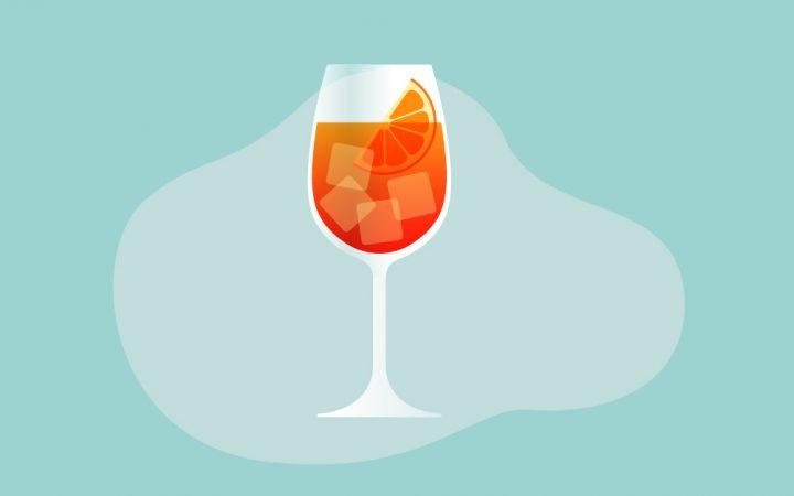 Illustration of aperol sprits drink